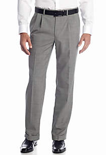 Black & White Wool Pleated Pants