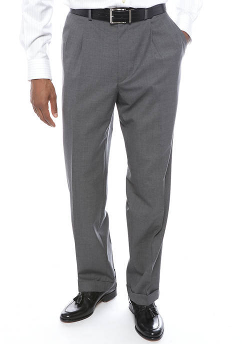 Lauren Ralph Lauren Mens Gray Pleat Pants