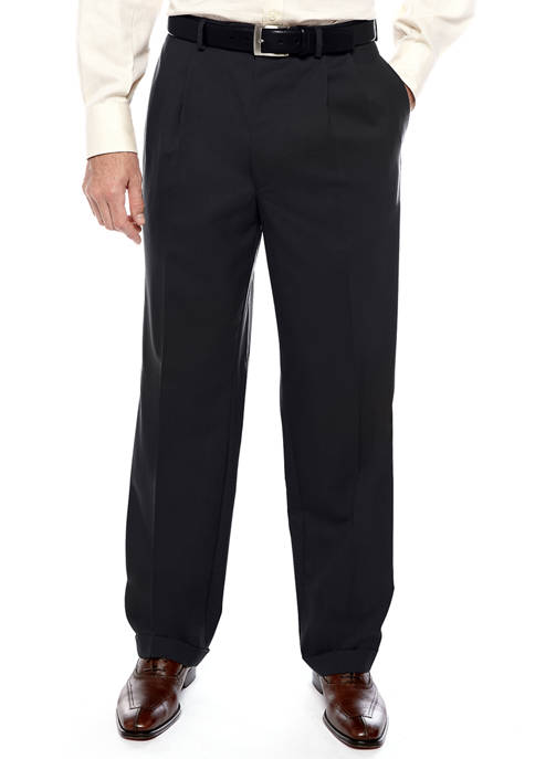 Lauren Ralph Lauren Mens New Black Pleat Pants