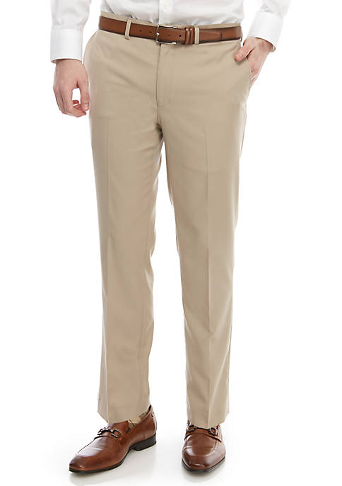 Lauren Ralph Lauren Light Tan Solid Slim Stretch