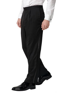 Classic Fit Pleat Tuxedo Pants