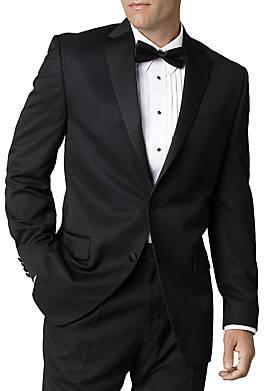 Black Classic Fit Tuxedo Jacket