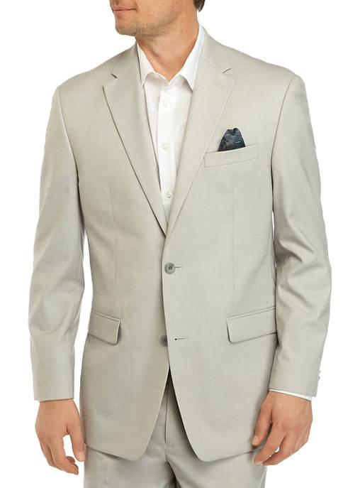 Sean John Mens Light Gray Suit Separate Coat