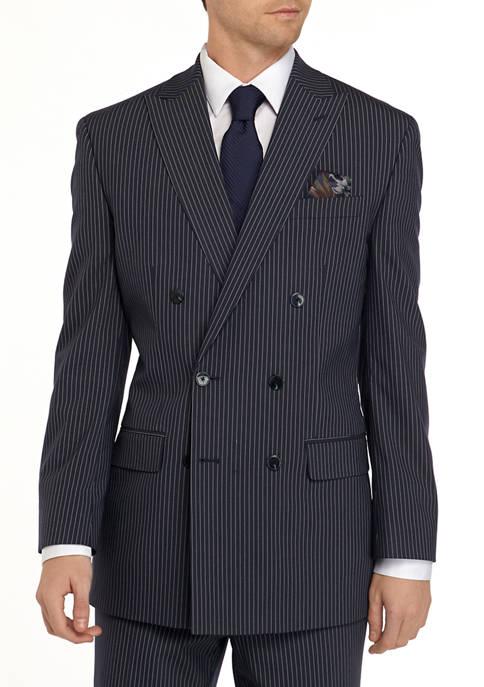 Blue Stripe Suit Separate Coat