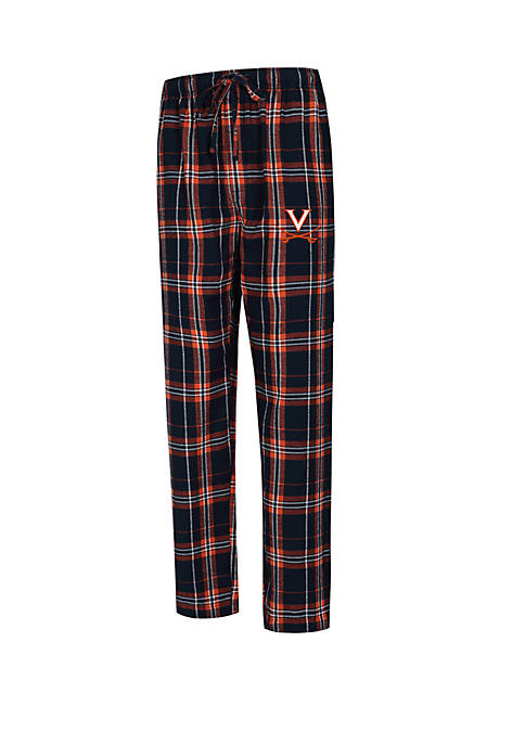 College Concepts NCAA Virginia Cavaliers Hillstone Flannel Pants