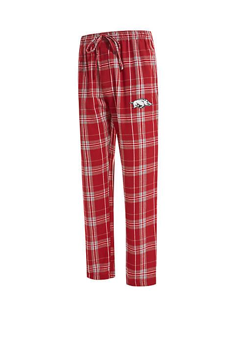 College Concepts NCAA Arkansas Razorbacks Hillstone Flannel Pants