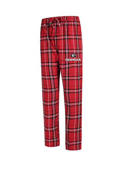 College Concepts NCAA Georgia Bulldogs Hillstone Flannel Pants