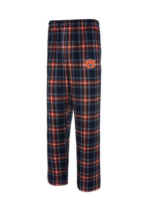 NCAA Auburn Tigers Plaid Silky Fleece Pants
