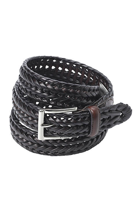 Fossil® Myles Leather Braided Belt