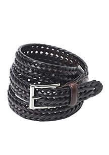 Myles Leather Braided Belt