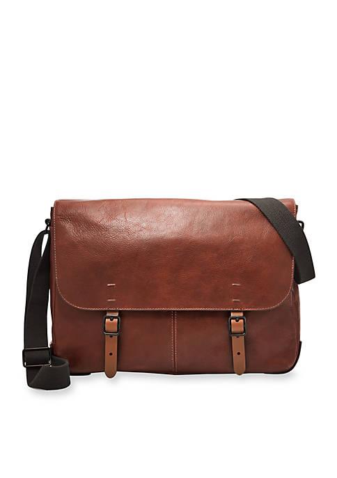 Fossil® Buckner Leather Messenger Bag