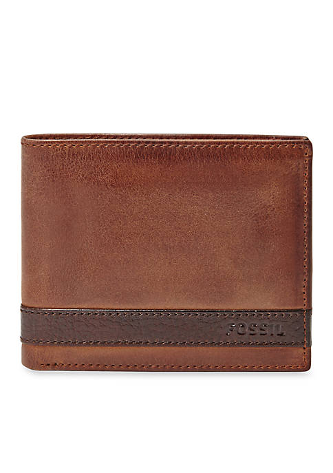 Fossil® Quinn Leather Bifold With Flip ID Wallet