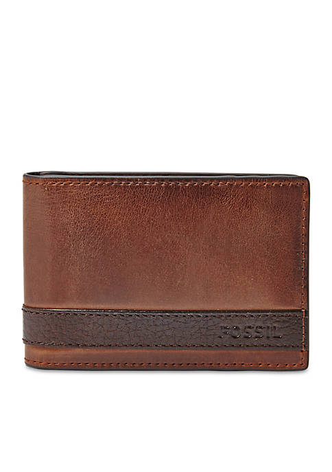 0e2641ddfcfe Quinn Leather Money Clip Bifold Wallet