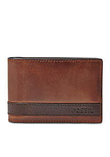 Fossil® Quinn Leather Money Clip Bifold Wallet