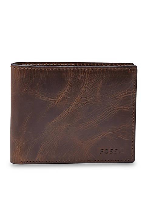 Derrick Leather RFID Bifold with Flip ID Wallet