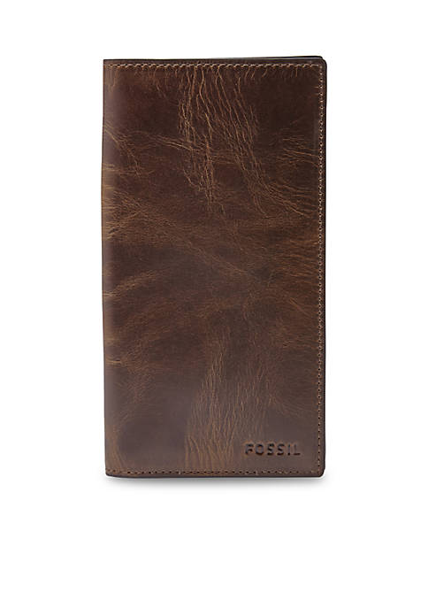 Fossil® Derrick Leather Executive Checkbook Wallet