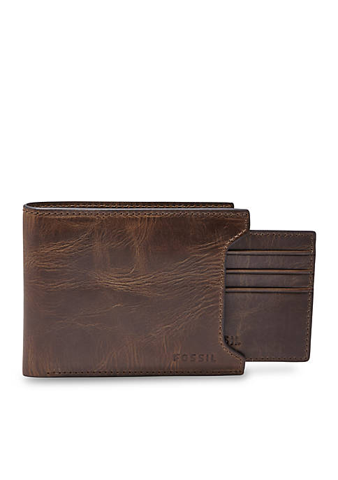 Fossil® Derrick Leather 2 In 1 Bifold Wallet