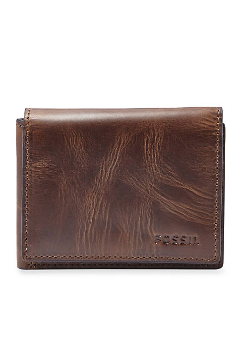 Derrick Leather Flip Trifold Wallet