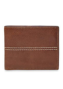 Turk Leather Bifold With Flip ID Wallet