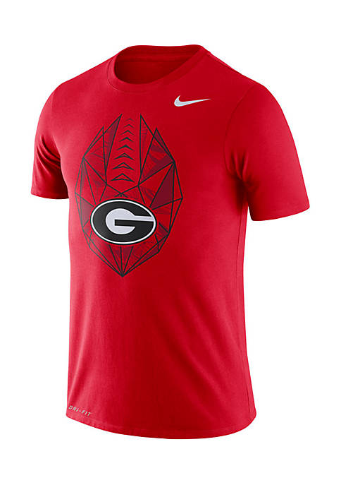 Nike® Georgia Bulldogs Dri-Fit Football Icon Short Sleeve