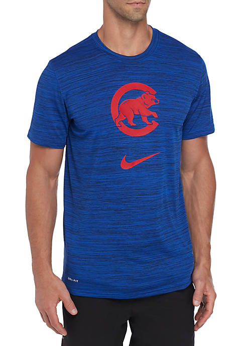 Chicago Cubs Velocity Logo Dri FIT Legend Short Sleeve T Shirt