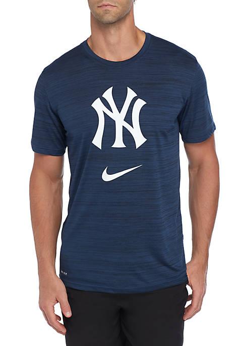 New York Yankees Velocity Logo Dri FIT Legend Short Sleeve T Shirt