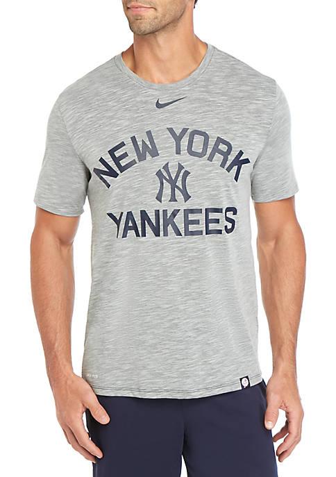New York Yankees Arch Slub Short Sleeve T Shirt