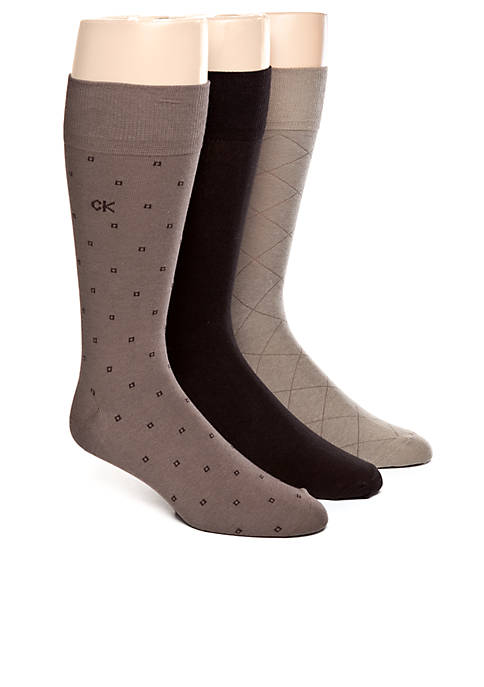 3-Pack Patterned Dress Socks