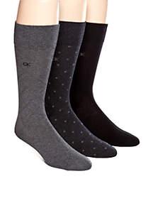 3-Pack Patterned Dress Socks