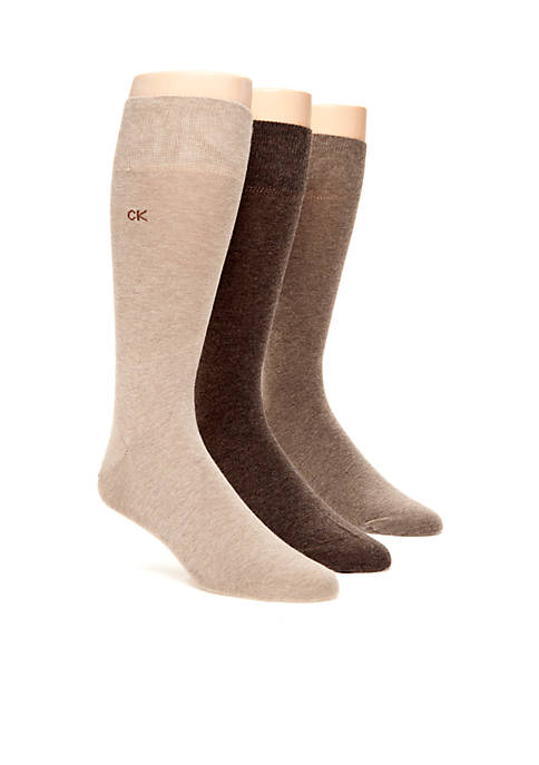 Calvin Klein 3-Pack Flat Knit Dress Socks