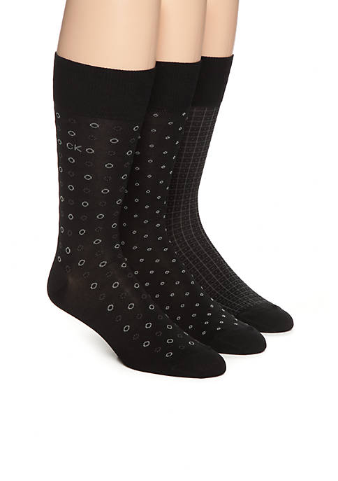 Calvin Klein Mercerized Pattern Socks