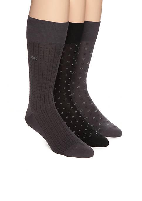 Calvin Klein Mercerized Pattern Socks