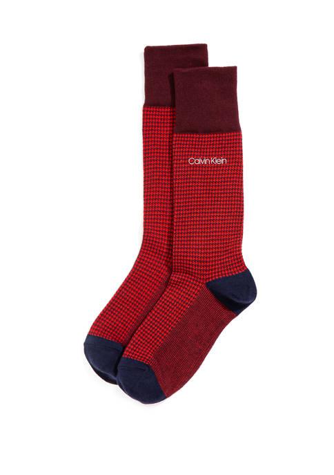 Houndstooth Crew Socks