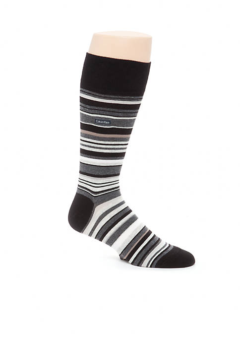Multi-Color Stripe Crew Socks