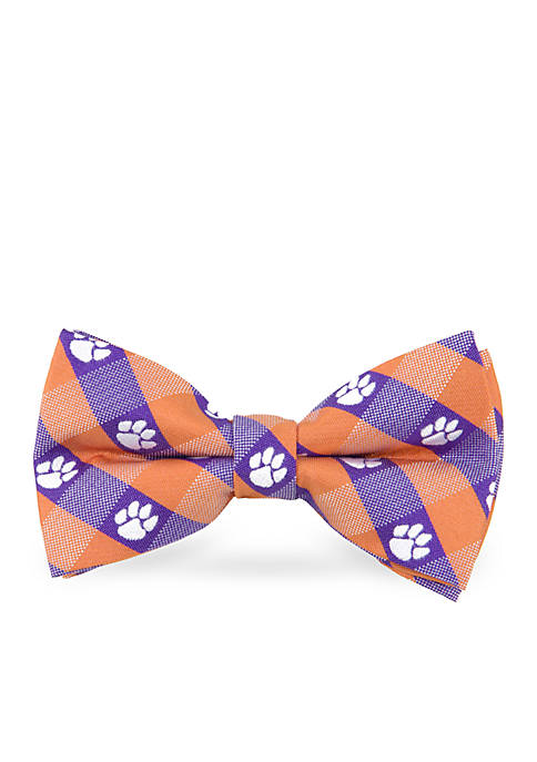Clemson Tigers Check Pre-tied Bow Tie