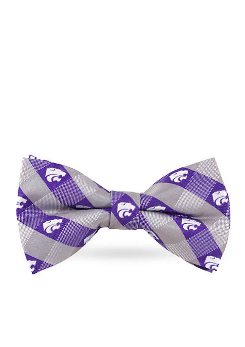 Kansas State Wildcats Check Pre-tied Bow Tie