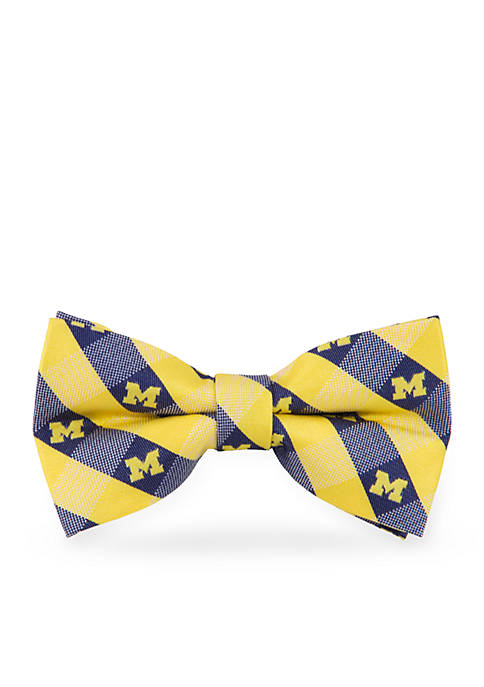Eagles Wings Michigan Wolverines Check Pre-tied Bow Tie