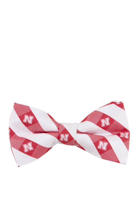NCAA Nebraska Cornhuskers Check Bow Tie
