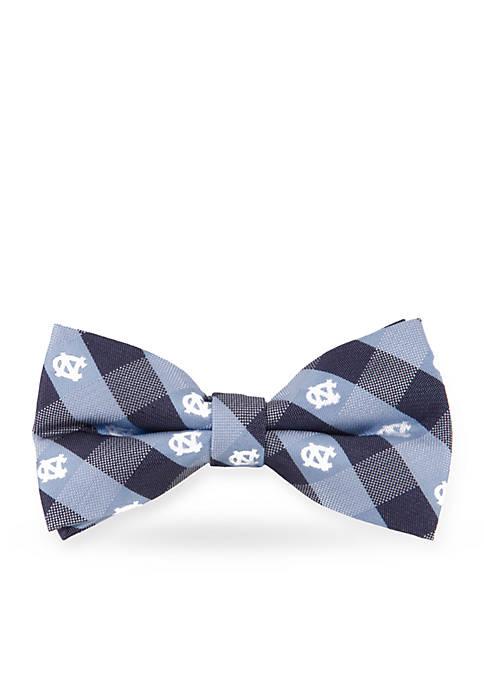UNC Tar Heels Check Pre-tied Bow Tie