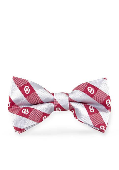 Oklahoma Sooners Check Pre-tied Bow Tie