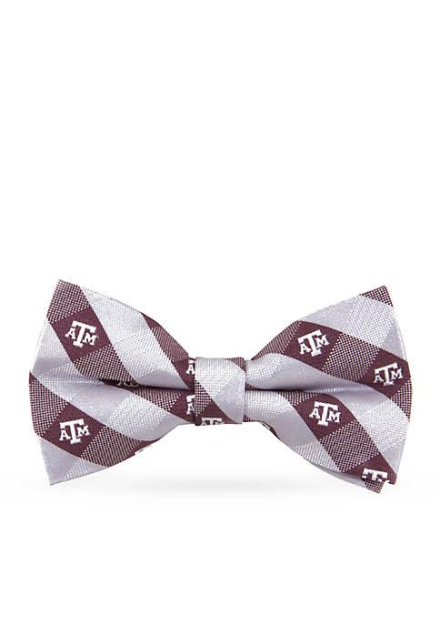 Texas A & M Aggies Check Pre-tied Bow Tie