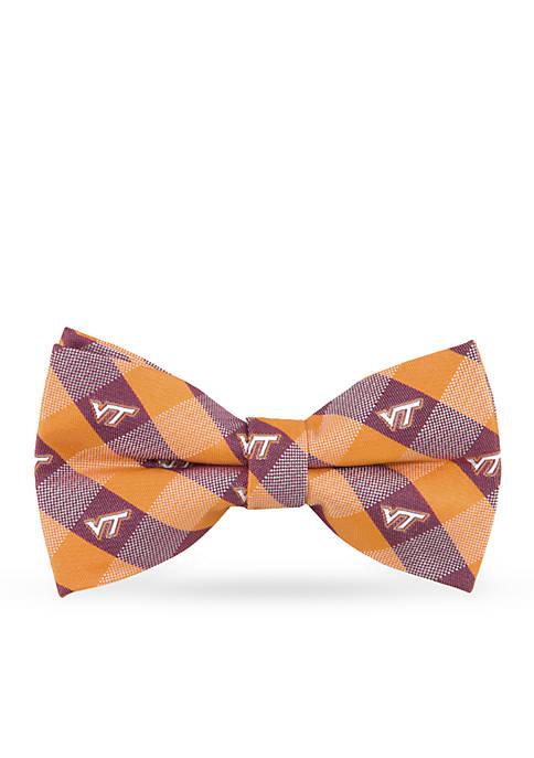 Virginia Tech Hokies Check Pre-tied Bow Tie