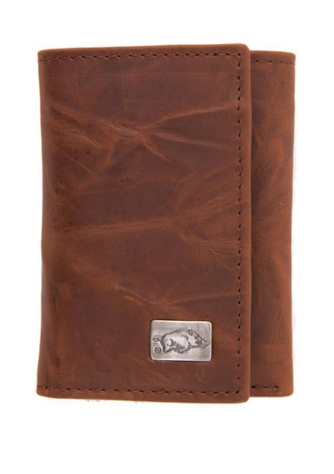 NCAA Arkansas Razorbacks Tri Fold Wallet