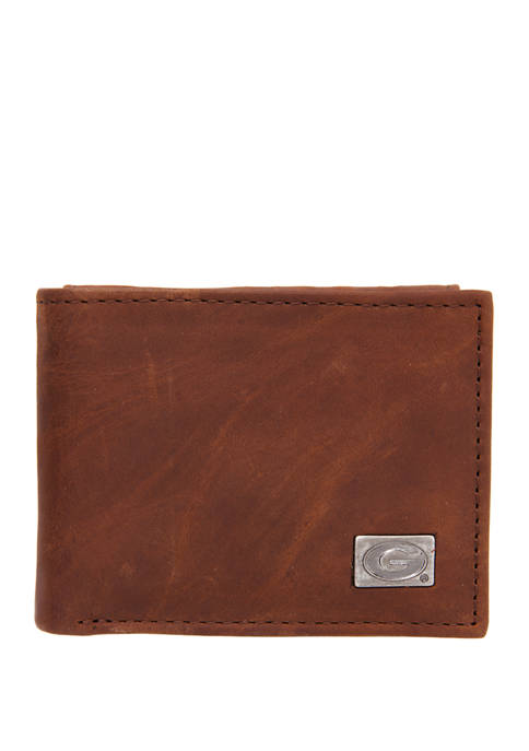 Eagles Wings NCAA Georgia Bulldogs Bi Fold Wallet