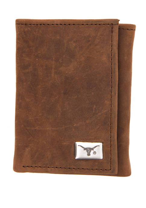 Eagles Wings NCAA Texas Longhorns Tri Fold Wallet