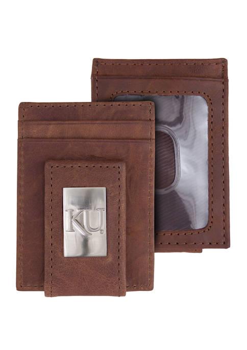 Eagles Wings NCAA Kansas Jayhawks Front Pocket Wallet