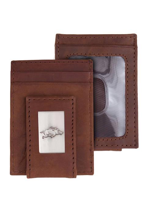 NCAA Arkansas Razorbacks Front Pocket Wallet