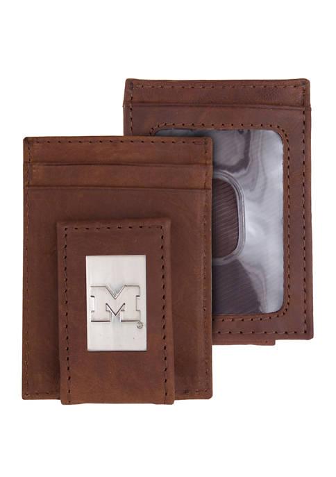 NCAA Michigan Wolverines Front Pocket Wallet