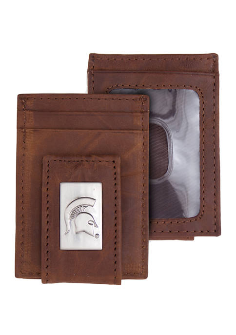 NCAA Michigan State Spartans Front Pocket Wallet