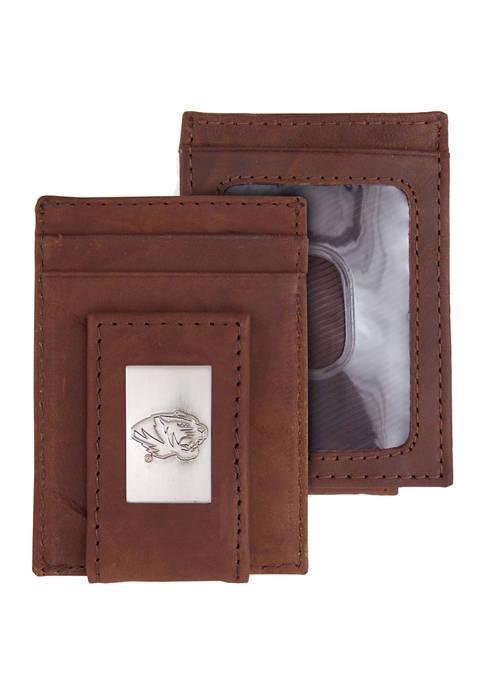 Eagles Wings NCAA Missouri Tigers Front Pocket Wallet